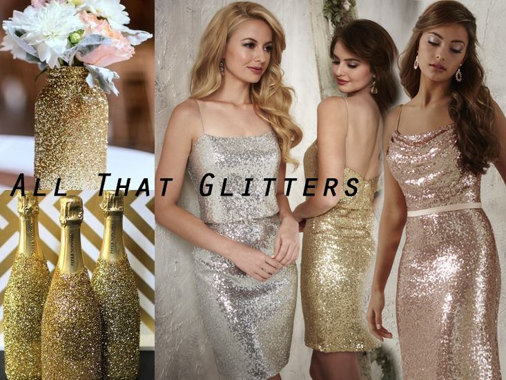 Sequined Bridesmaids - The Eternity Group